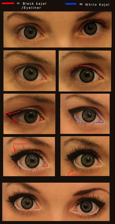 Как узкие глаза сделать больше с помощью макияжа