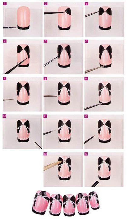 рисунки на ногти поэтапно картинки