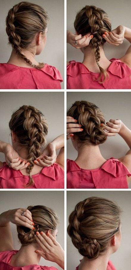 Как сделать красивую прическу на средние волосы просто и красиво