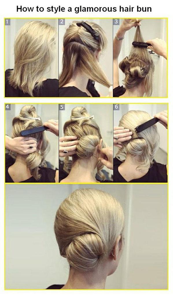 Уроки вечерней прически на средние волосы
