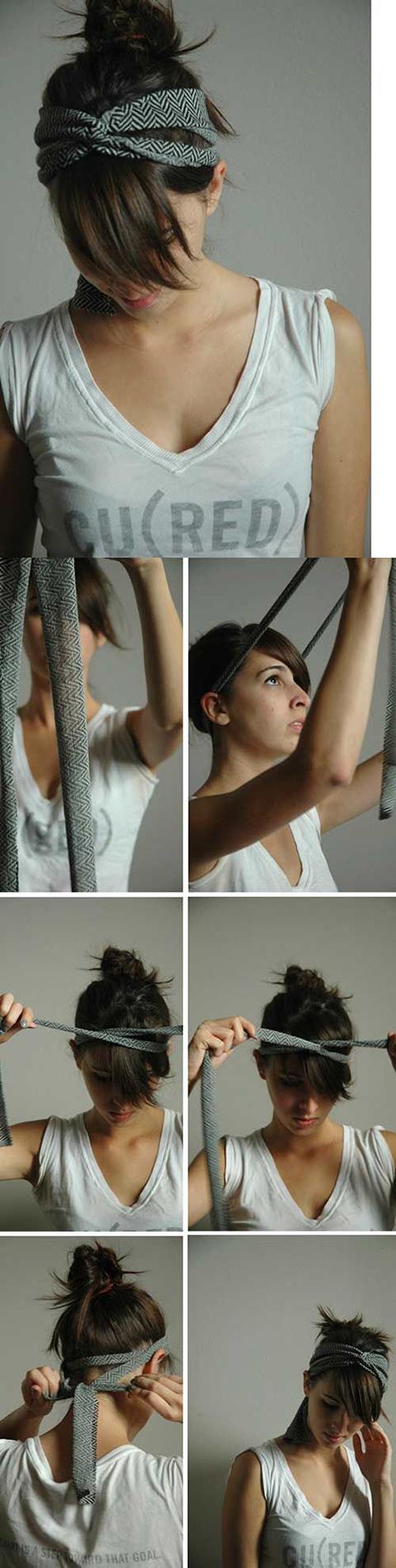 Прически с повязками на голову как сделать